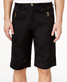 "Men's Zipper Detail Pocket Flight 12.5"" Stretch Shorts, Created for Macy's"