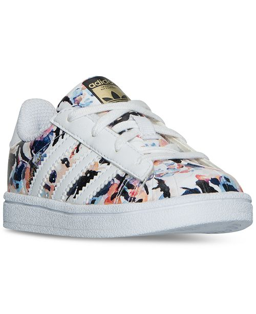 baa97f647 ... adidas Toddler Girls' Superstar Casual Sneakers from Finish Line ...