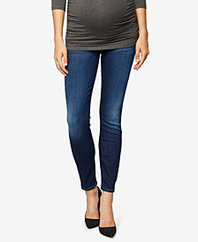 7 For All Mankind Maternity Dark Wash Skinny Jeans