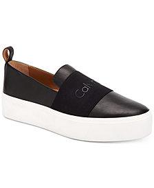 Calvin Klein Women's Jacinta Slip-On Platform Sneakers, Created for Macy's
