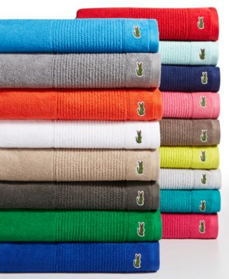 "Image of Lacoste Legend 30"" x 54"" Supima Cotton Bath Towel"