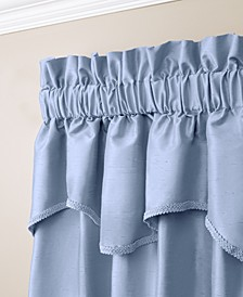 "Buckingham Antique Satin 52"" x 18"" Window Valance"