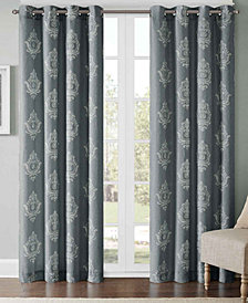 Madison Park Montclair Texture Damask-Print Window Panels