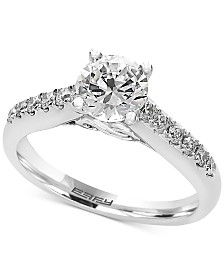 effy infinite love diamond engagement ring 1 14 ct tw - Real Diamond Wedding Rings