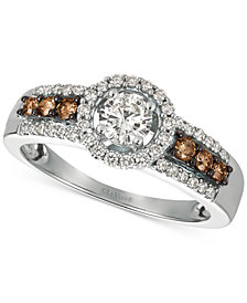 Le Vian Chocolatier® Diamond Ring (3/4 ct. t.w.) in 14k White Gold