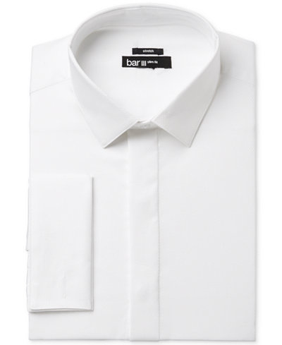 Bar III Men's Slim-Fit White French Cuff Dress Shirt, Created for Macy's