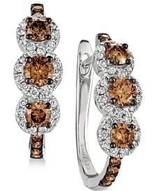 Chocolatier® Diamond Hoop Earrings (1-1/5 ct. t.w.) in 14k White Gold