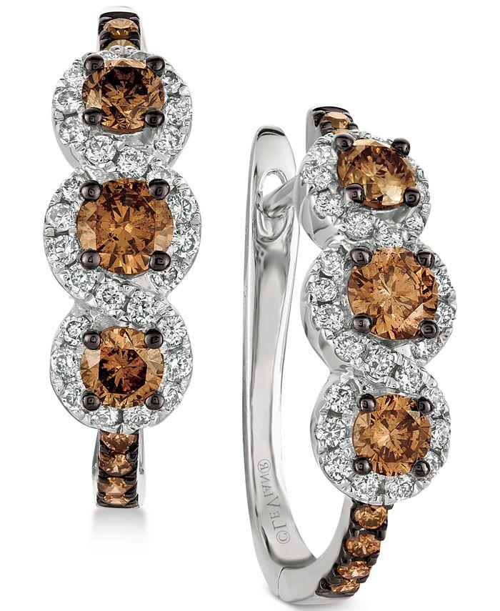 Le Vian - Diamond Hoop Earrings (1-1/5 ct. t.w.) in 14k White Gold