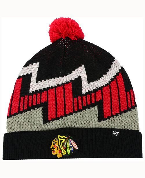 '47 Brand Kids' Chicago Blackhawks Landon Cuff Knit Hat