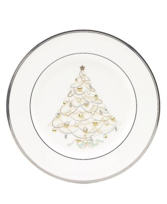 """Silver Palace"" Holiday Salad Plates, Set of 4"
