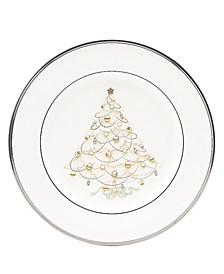 """Silver Palace"" Holiday Salad Plates, Set of 4"