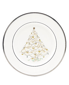 "Noritake ""Silver Palace"" Holiday Salad Plates, Set of 4"