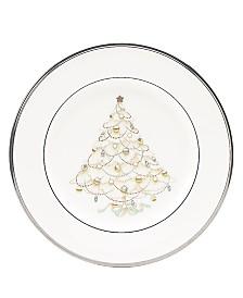 "Noritake ""Silver Palace"" Holiday Salad Plates, Set of 4"