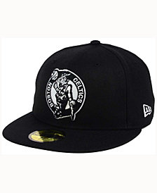 New Era Boston Celtics Black White 59FIFTY Cap