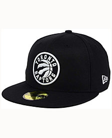 New Era Toronto Raptors Black White 59FIFTY Cap