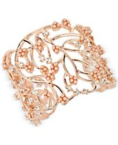 M. Haskell for INC International Concepts Imitation Pearl Cluster Openwork Cuff Bracelet, Created for Macy's