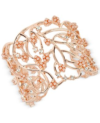 M. Haskell for INC International Concepts Imitation Pearl Cluster Openwork Cuff Bracelet, Only at Macy's