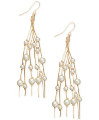 Image of Robert Rose for INC International Concepts Multi-Imitation Pearl Drop Earrings, Only at Macy's