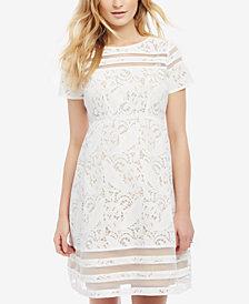 Motherhood Maternity Lace Illusion Dress