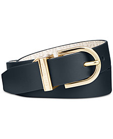 MICHAEL Michael Kors Plus-Size Reversible Signature Belt