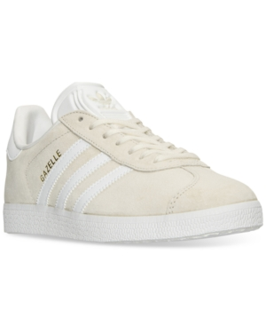 Adidas Gazelle Sneaker in Off White/ Gold