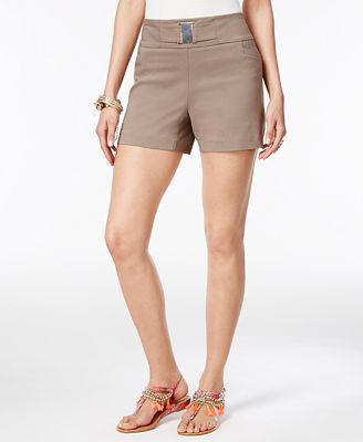 Thalia Sodi Buckle-Detail Shorts, Only at Macy's