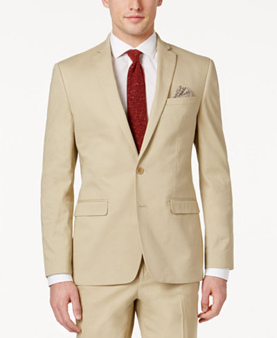 Bar III Men's Slim-Fit Tan Stretch Jacket, Created for Macy's ...
