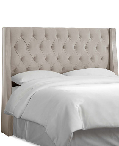 marcone queen wingback headboard quick ship - Wingback Bed Frame