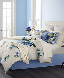 CLOSEOUT! Martha Stewart Collection Meadow Bouquet 14-Pc. Queen Comforter Set, Created for Macy's