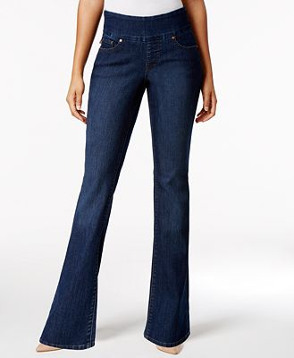 JAG Paley Pull-On Blue Shadow Wash Bootcut Jeans
