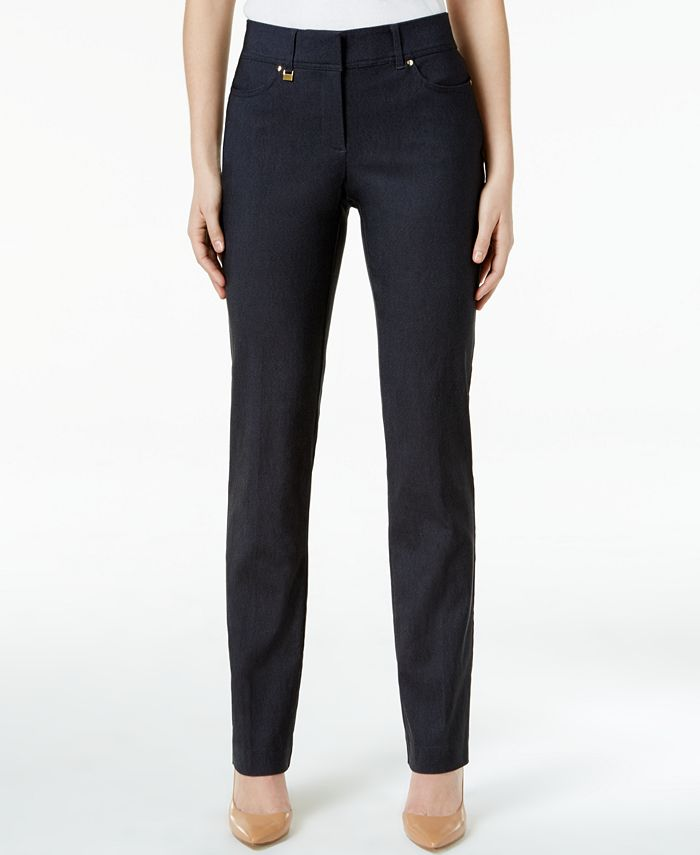 JM Collection - Slim-Fit Tummy-Control Pants, Created for Macy's