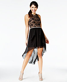 City Studios Juniors' Lace High-Low Dress, A Macy's Exclusive