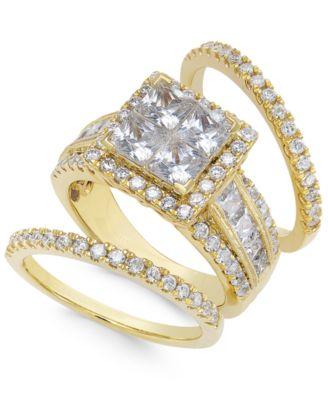 Bridal Set Womens Engagement and Wedding Rings Macys