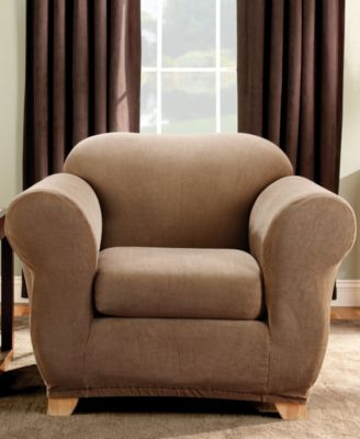 Stretch Stripe 2-Piece Chair Slipcover