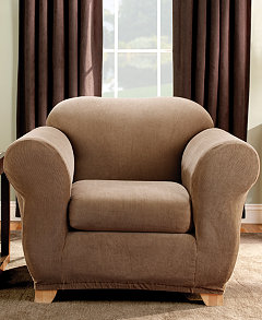 Sure Fit Stretch Stripe 2-Piece Slipcover Collection - Slipcovers ...
