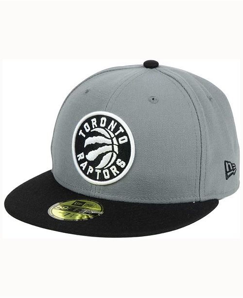 online store 4aea8 457b1 ... New Era Toronto Raptors 2-Tone Gray Black 59FIFTY Cap ...