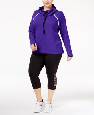 Ideology Plus Size Cowl-Neck Top, Only at Macy's