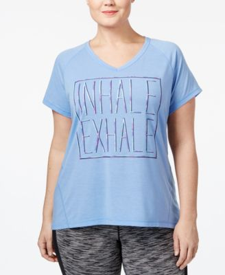 Ideology Plus Size Challenge Yourself Tech T-Shirt, Only at Macy's