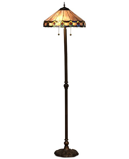 Dale Tiffany Townsville Glass Floor Lamp