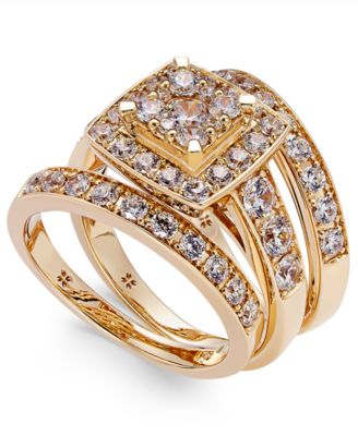Diamond Engagement Ring Bridal Set (2 Ct. T.w.) In 14k White, Yellow