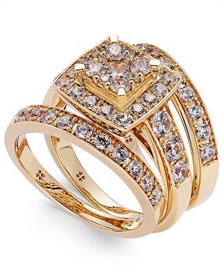 Diamond Engagement Ring Bridal Set 2 ct tw in 14k White Gold