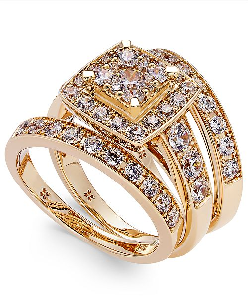 Macy's Diamond Engagement Ring Bridal Set (2 ct. t.w.) in 14k White, Yellow or Rose Gold