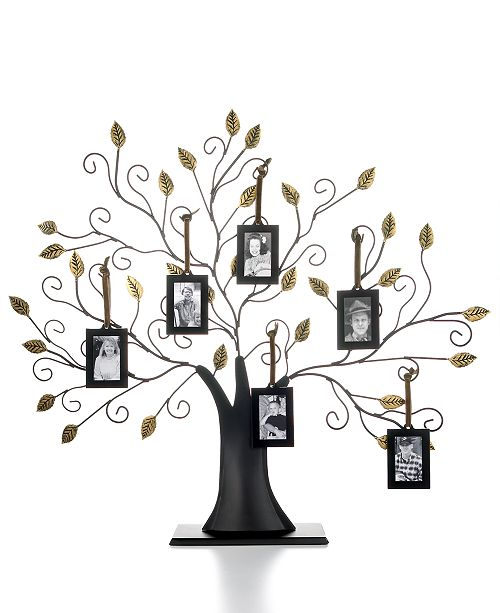Leeber Family Tree with Set of 6 Hanging Frames - Picture Frames ...
