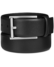 Calvin Klein Men's Leather Feather-Edge Belt