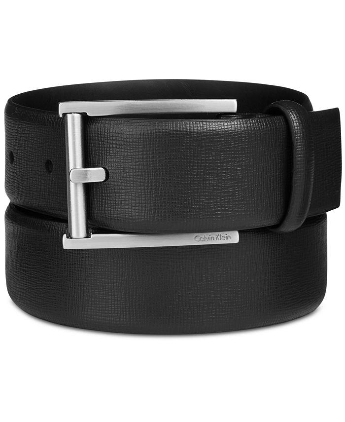 Calvin Klein - Men's Leather Feather-Edge Belt