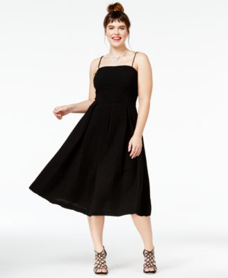 City Chic Trendy Plus Size Textured Midi Dress