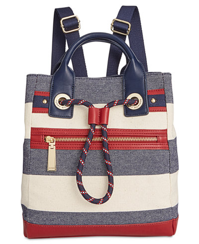 Tommy Hilfiger Small Belen Woven Rugby Backpack