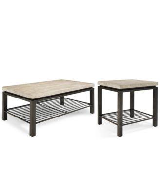 tempo rectangle 2pc table set coffee u0026 end table