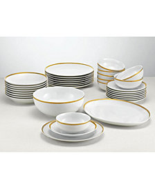 Martha Stewart Collection 34-Piece Gold Entertaining Set, Created for Macy's