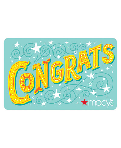 Congrats Gift Card with Greeting Card